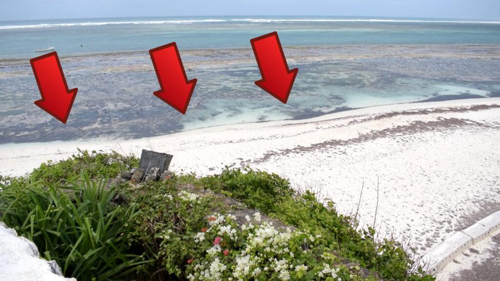Sand accumulation on adjacent beach property