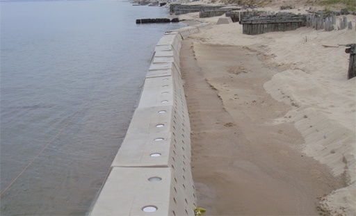 Beach Erosion Solution Lake Michigan