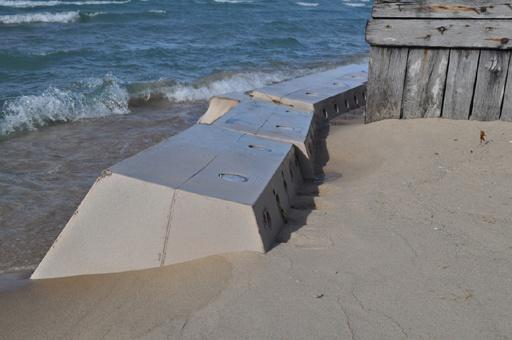 Sandsaver installed in Lake Michigan Great Lakes