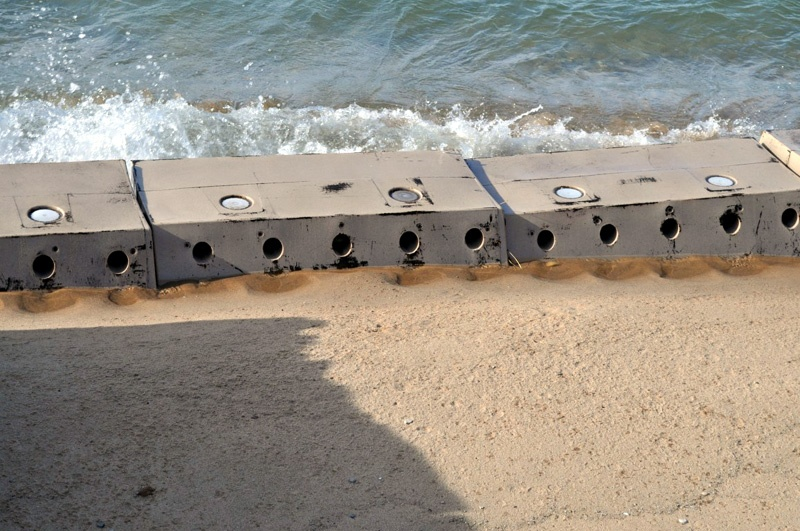Sandsavers nearing complete coverage in Lake Michigan Great Lakes