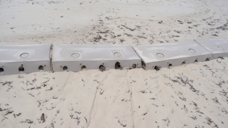 Sandsavers nearing completely covered