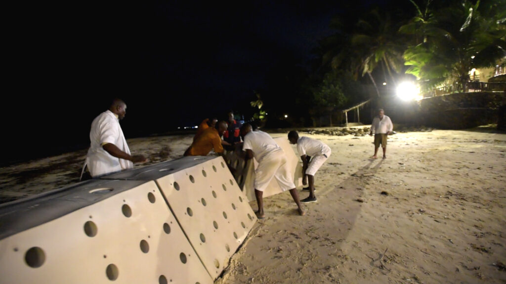 Indian Ocean Beach Being Saved from Beach Erosion by Sandsavers.